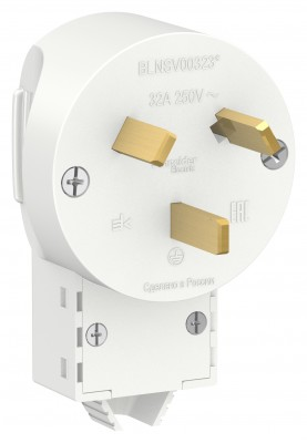 Schneider Electric Blanca Вилка силовая СП 2P+N 32А 250В бел.