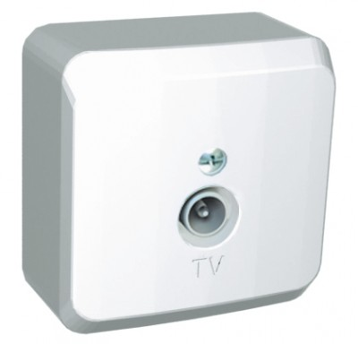 Schneider Electric Этюд Розетка TV 1-м белый